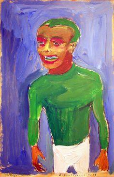 """El cheto"", gouache sobre papel, 24x 18 cm., year 1998"