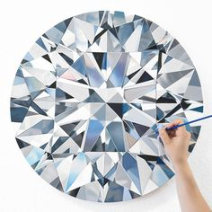 SURPRISE NEW RELEASE ⠀ Meet Catherine, the 5 carat round brilliant diamond painting! What do you think??? This portrait was commissioned by a wonderful client in NYC ⠀ ⠀ I work from photos of diamonds, and don't always get to see them in person...but I saw this diamond last winter so I have an extra special connection to it - SO IN LOVE!!! I wish I could keep this for myself ⠀ ⠀ Canvas prints of Catherine are now available at angiecrabtree.com - link in bio!! ⠀ .⠀ .⠀ .⠀ .⠀ .⠀ ...