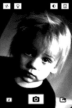 1-Bit Camera, A Retro Photo App for iPhone - another reason i want an iPhone