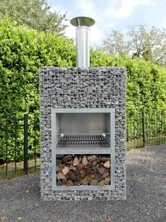 TOP 45 Amazing Gabion Ideas For Your Outdoor Area In 2020 – Engineering Discoveries Outdoor Barbeque, Pizza Oven Outdoor, Outdoor Fire, Outdoor Cooking, Design Grill, Barbecue Design, Backyard Patio, Backyard Landscaping, Gabion Wall