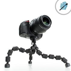 FlexGrip Flexible Leg Adjustable DSLR Tripod Stand with Quick-Release Head for Sony Alpha a5100 , 7S , a6000 , 7R , SLT A57 , A65 , A77 , A55 and More Digital Cameras