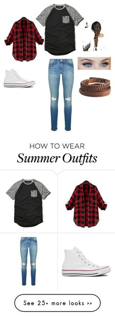 """""""First day school outfit or a hangout at the mall"""" by floransaaa45 on Polyvore featuring Rebecca Minkoff, Hollister Co., Converse and Pieces"""