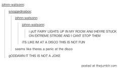 It's like I'm at a disco