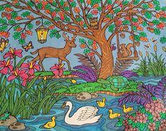 ColorIt Blissful Scences Colorist: Melissa Scott #adultcoloring #coloringforadults #adultcoloringpages #scenes