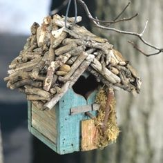 Raise the roof...rustic shabby birdhouse
