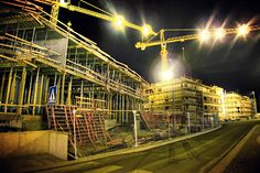 night scene construction project Construction Bids, New Image, Fair Grounds, Scene, Led, Night, Projects, Cityscapes, Travel