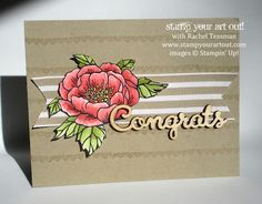 Sneak Peek at the Birthday Blooms stamp set that will be available in the 2015 Occasions Catalog… #stampyourartout #stampinup - Stampin' Up! - Stamp Your Art Out! www.stampyourartout.com