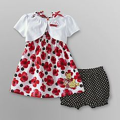 Disney- -Winnie the Pooh Infant Girls Dress & Shrug
