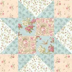 combination of variable star and four patch -- Paris Flea Market Star pattern -- free download
