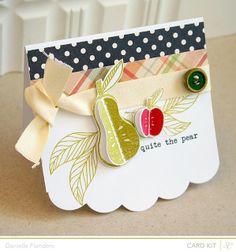 Studio Calico's October card kit, Antiquary...  tampon fruit et feuilles