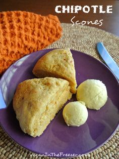Chipotle Scones with Adobe Sauce are the perfect bread for soups, stews, beans and more.