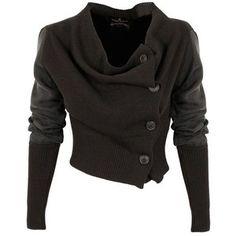 Post Apocalypse / Vivienne Westwood Anglomania Drape Cardigan   GarmentQuarter ($440) via Polyvore