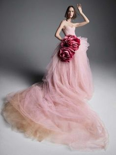 Vera Wang Made A Case For A Multicolored Wedding Dress. For Spring 2019, the iconic wedding designer is going back to her colorful roots, by putting out a collection that dabbles with every color of the rainbow—sometimes on the same dress.