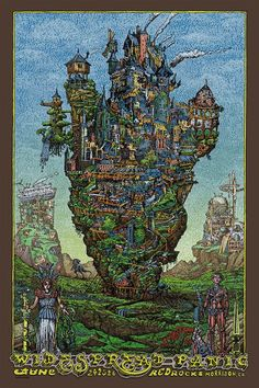 Widespread Panic & Phish gig posters by David Welker