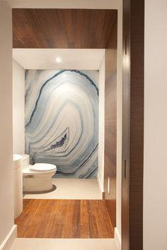 modern bathroom by DKOR Interiors Inc.- Interior Designers Miami, FL With careful selection of paint, gel medium and S.crystals, I think a good imitation could be made. (For those of us w/o the thousands to spend on b-room decoration)