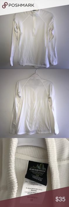 """Patagonia 1/4 Zip Base Layer Pullover Like New. Length 24"""". Pit to Pit 18"""". Patagonia Tops"""