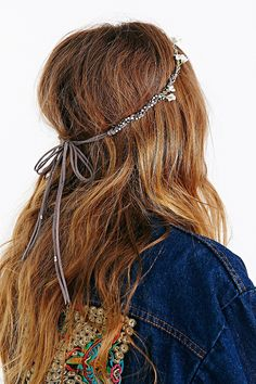 $24.00  Braided Suede Jeweled Flower Crown - Urban Outfitters