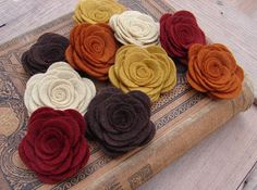 Wool Felt Flowers - Large Posies - Autumn Collection - The Original Wool Felt Posies