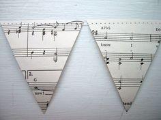 sheet music pennant banner
