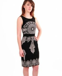 Joseph Ribkoff 41847 Border Print Dress $213