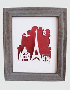 Paris Frankreich. Personalisiertes Geschenk oder von Cropacature