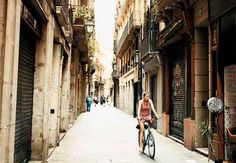 Take a bike ride through the Barri Gòtic in Barcelona #monogramsvacation