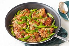 Chicken & Snap Pea Skillet~ This recipe is super simple and SOO DELICIOUS!!! Seriously! Just try it!!