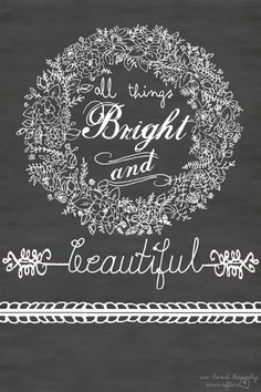 All Things Bright and Beautiful Fall Printable