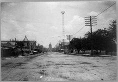 View Down Congress Avenue in Austin 1901