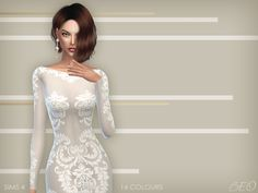 Anveay dress for The Sims 4 by BEO (1)