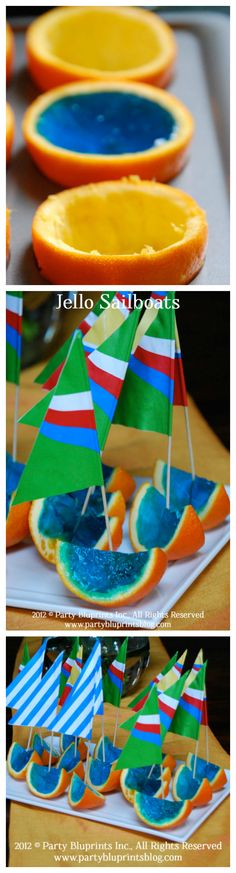 "Jello Sail Boat Party Dessert Idea - ""As The Summer Sets Sail!"" - The Party Bluprints Blog #plantoparty"