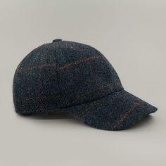 John Hanly & Co. Tweed Baseball Cap - Blue - Trouva
