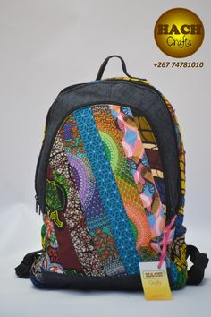 Ankara Bags, Printed Bags, Vera Bradley Backpack, Afro, Fashion Accessories, Arts And Crafts, Dressing, African, Backpacks