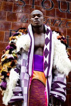 Expositie 'Making Africa' in Vitra Design Museum. Buki Akib, Fela menswear collection, 2011. #fashion #makingafrica