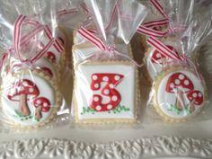 Woodland Fairy Mushroom Sugar Cookies by NotBettyCookies on Etsy, $36.00