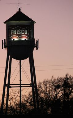 Frisco Water Tower by Rachel King.