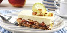 Ostekake med epler - En spennende variant av en ostekake med havre, nøtter og masse epler!