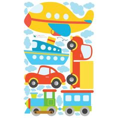 Toy Vehicle Wall Prints Are Perfect For Your Kids Nursery