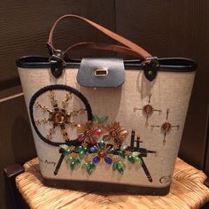 """Vintage Collins jeweled handbag 10.5 x 13"""" measurements. This bag comes from as early as the 60s.  Its the Spin Away style that has an adorable feminine flair. Vintage collectors must have!! Has a slight natural discolor in a few spots as shown in pictures. More Michael Kors, Victoria's Secret. Collins vintage Bags Shoulder Bags"""
