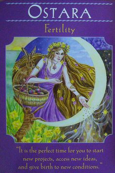 Ostara Card for Fertility