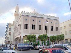 مسجد بلال بن رباح، بنغازي، ليبيا. Bilal ibn Rabah Masjid, Benghazi, Libya.