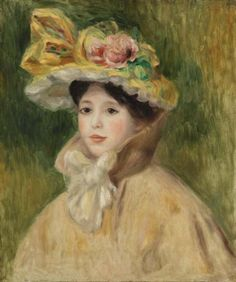 Pierre-Auguste Renoir French, 1841–1919 Woman with Capeline.jpg Женщина в капоре.