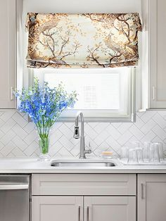 to take plain tiles and make them special, such as this backsplash dressed in classic white ceramic subway tiles. For a sophisticated twist,...