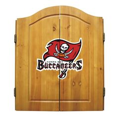 Tampa Bay Buccaneers NFL Dart Board w-Cabinet