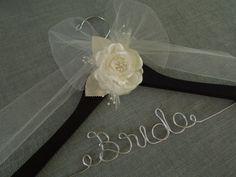 personalized wedding hanger, bridal hanger, wedding dress hanger, wedding shower, bridal shower, bride, wedding