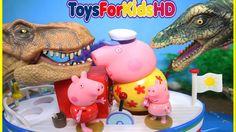 Peppa la Cerdita en español y Dinosaurios para niños Videos de peppa pig El barco del Abuelo Pig