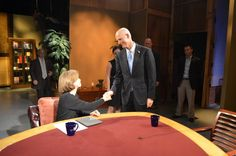 Governor Scott on the set of Issues with Helen Ferre for an early morning taping.