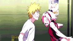 Sakura slaps Naruto and Sai. shikamaru's face is priceless