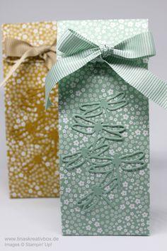 Schnelle Geschenktüte Libelle mit Produkten von Stampin' Up!