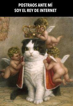 Soy el Rey de Internet. Pintura por Tokuhiro Kawai.